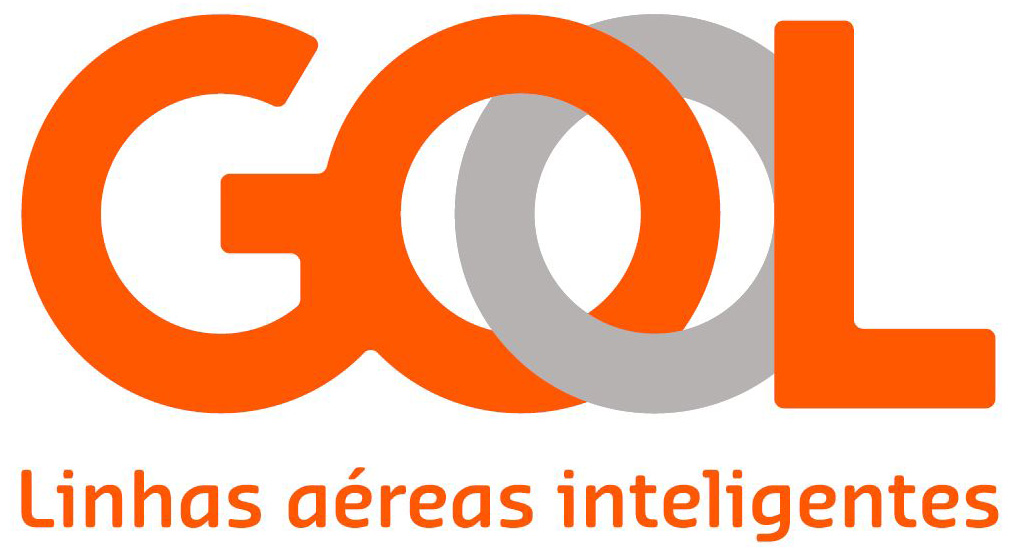 GOL Airline's updated logo keeps the color scheme and features gothic letters.
