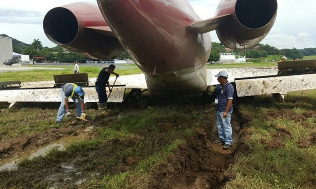 Private Jet Skids Off Runway at Albrook Airport